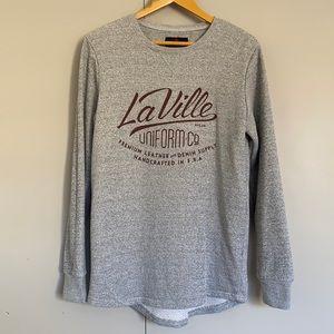 Cotton On Mens Graphic Fleece Jumper Grey Medium